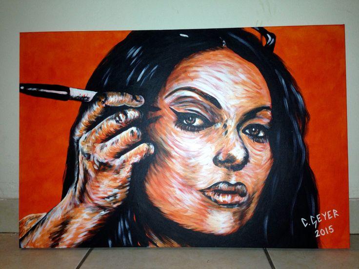 Orange is the new black, Alex Vause painting #art