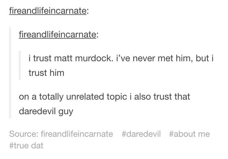 daredevil/ matt murdock text post