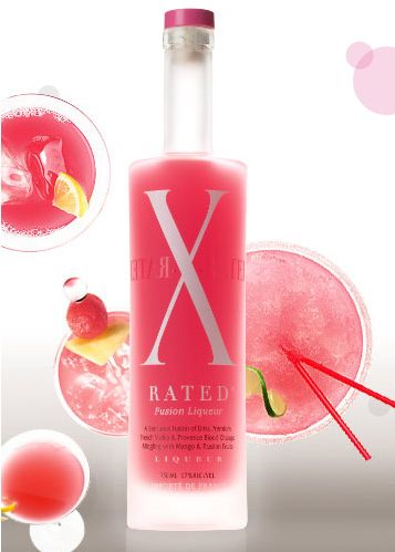 Totally girly.. X rated fusion blood orange pink liqueur, vodka, splash of lime and cran. Served over cotton candy. So good!