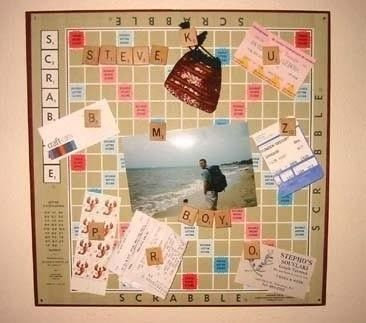 How to make a bulletin board. Scrabble Bulletin Board - Step 4