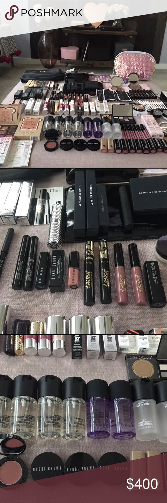 128 Piece Makeup Bundle Brands like YSL,Mac and many more!!   If interested in my product please review my terms!🔶Shipping depends on your location🔶Contact me before purchasing🔶Many payment methods available🔸Prices are negotiable                  🔶(856) 442-9869🔸 MAC Cosmetics Makeup