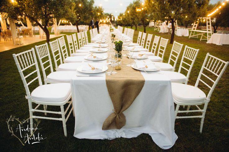 Tavolo imperiale stile country fotografo matrimonio Taranto Brindisi Lecce