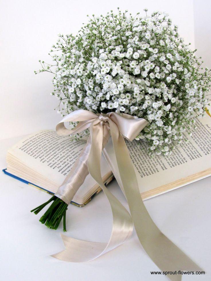 baby breath bouquet | Babies' Breath & Gerbera Daisy Wedding