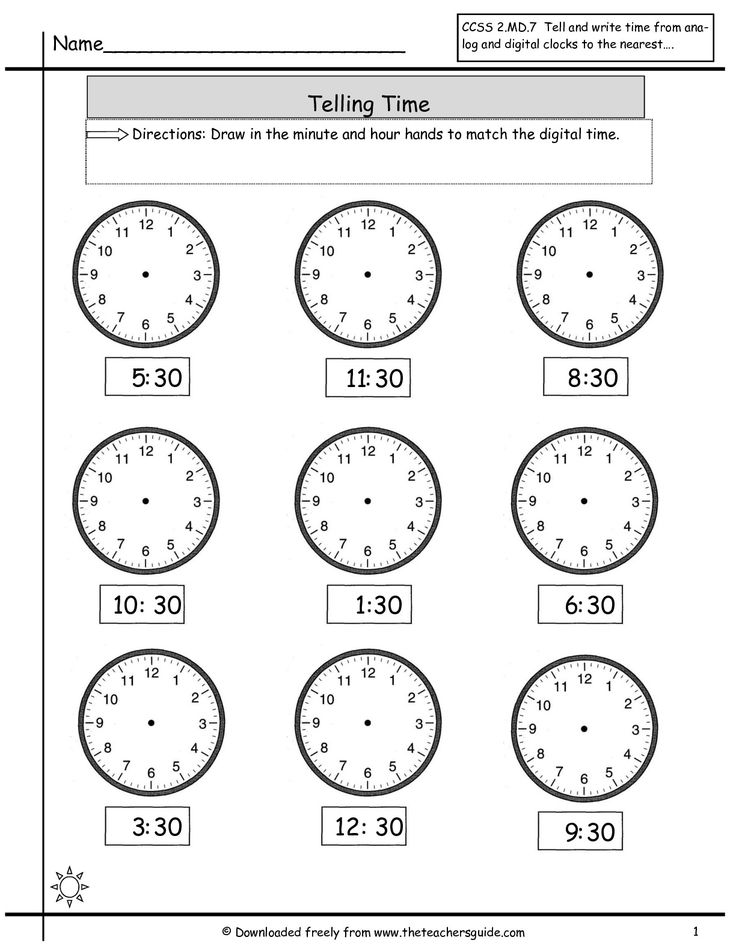 telling time to nearest half hour worksheet math clock worksheets time worksheets grade 2. Black Bedroom Furniture Sets. Home Design Ideas