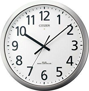 Amazon|CITIZEN (シチズン) 掛け時計 パルウエーブM437 電波時計 ... CITIZEN ( シチズン ) 電波 掛け時計 パルフィス484 防滴 防塵 ステンレス 枠 シルバー 8MY484-