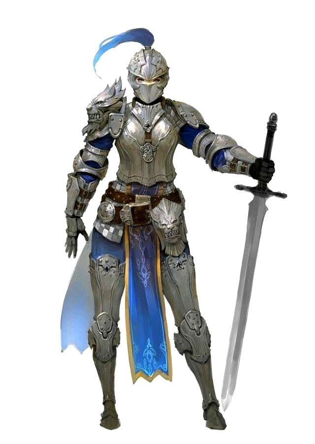 Female Human Fighter Cavalier Knight - Pathfinder PFRPG DND D&D 3.5 5th ed d20 fantasy