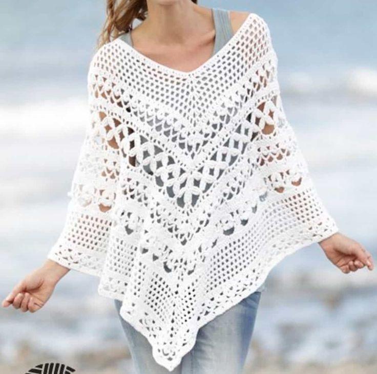 14 best capitas images on Pinterest | Crochet poncho, Crochet ...