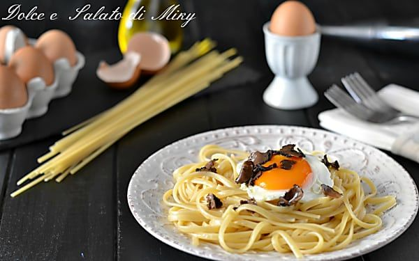 Linguine con uovo e tartufo, primo piatto gustoso e semplice