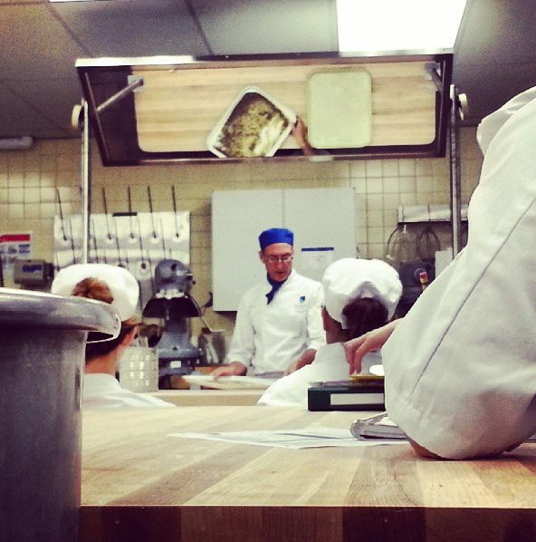 #NAITbacktoschool contest entry from @iamderick16. Caption: 'In class with the best pastry  chef in Canada!' #NAIT