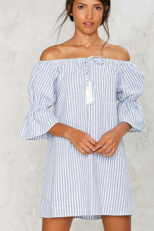 Neat as a Pinstripe Mini Dress
