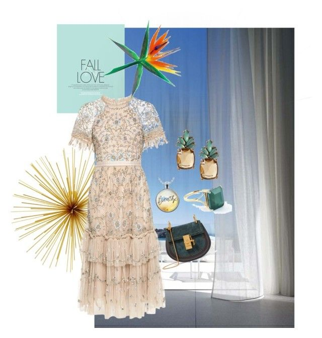 Fall in Love by roseleendsouza on Polyvore featuring polyvore, fashion, style, Needle & Thread, Chloé, Banana Republic, Folio and clothing