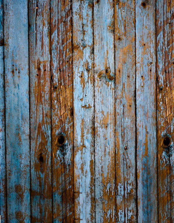 Shabby blue wood floor