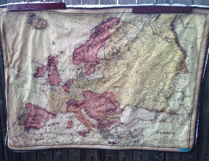 178 best map obsession on etsy images on pinterest maps fat europe map minky baby blanket vintage map faux fur cuddle quilt or shoulder blanket gumiabroncs Images