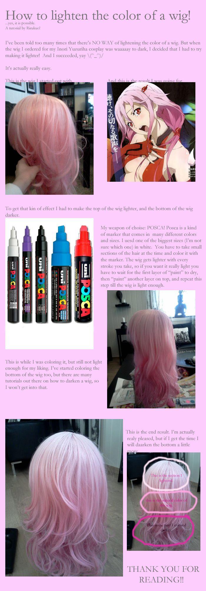 How to lighten a wig by ~Rirukuo on deviantART