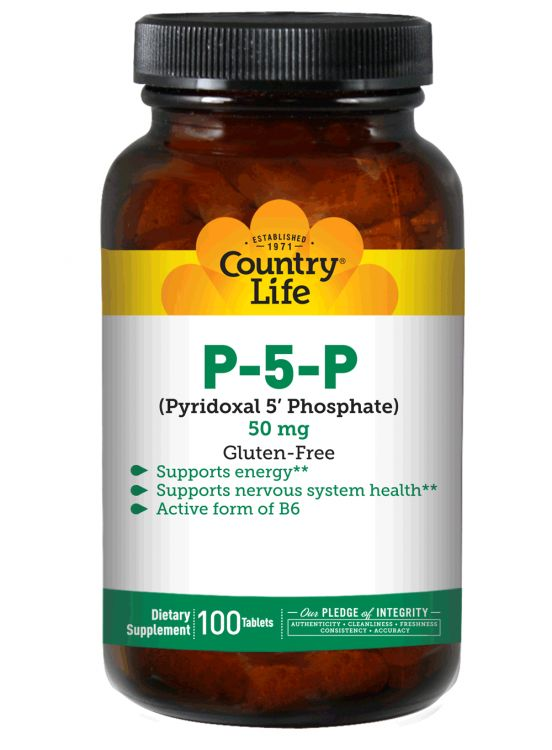 Muscle Fatigue and Pain, Carpal Tunnel Syndrome, 'Burning Feet', Diabetic neuropathy, edema?   P-5-P Pyridoxal-5-Phosphate 50 mg...read the studies on using the active form of Vitamin B-6 | Country Life Vitamins