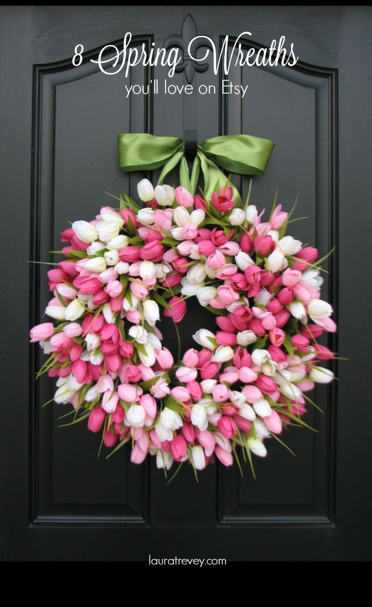 Celebrate the season and brighten up your front door with a beautiful Spring wreath. Click through for more.