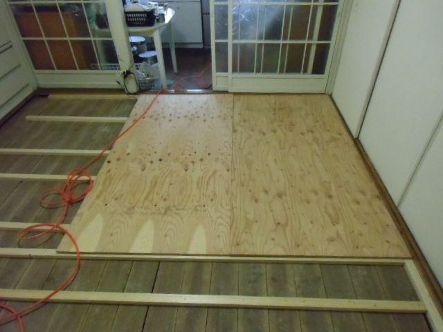 古い昭和の家の和室の畳をパインのフローリングにする2 Diyリフォーム