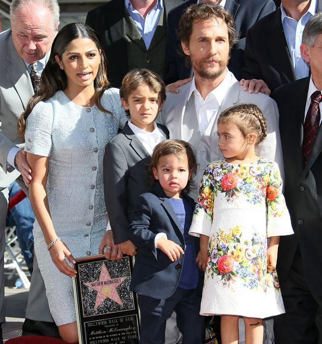 Matthew McConaughey Daughter Vida in Dolce & Gabbana - Matthew McConaughey Hollywood Walk of Fame - Elle