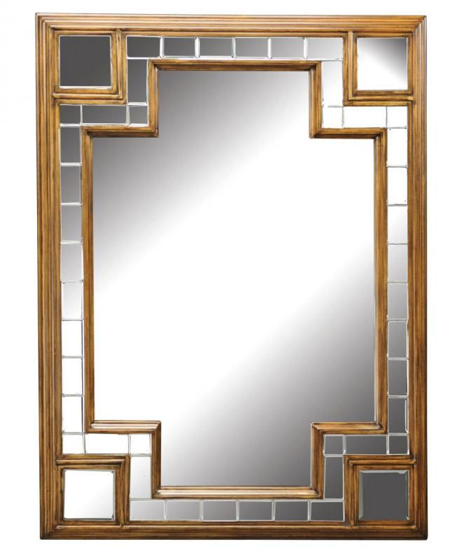 A mirror made for Daisy!  This glamorous art deco inspired piece has clean lines and beveled, mosiac-like detailing.