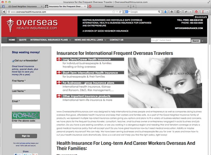 Finding the right international business insurance - Health, Kidnap and Ransom, International Life, Annual Multi-Trip plans for frequent travelers - From the top trip insurance site for business travelers - www.overseashealthinsurance.com