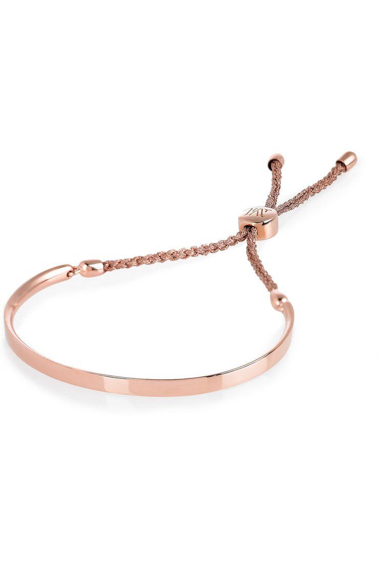 MONICA VINADER  Fiji 18-karat rose gold-vermeil bracelet