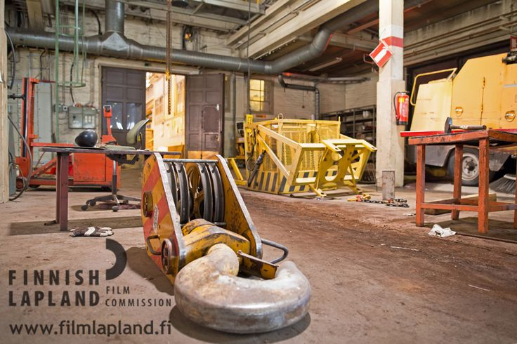 Stora Enso Veitsiluoto Factory premises, old buildings, Kemi, Finnish Lapland. Photo by House of Lapland. #filmlapland #articshooting #finlandlapland #industrial #factory #oldfactory