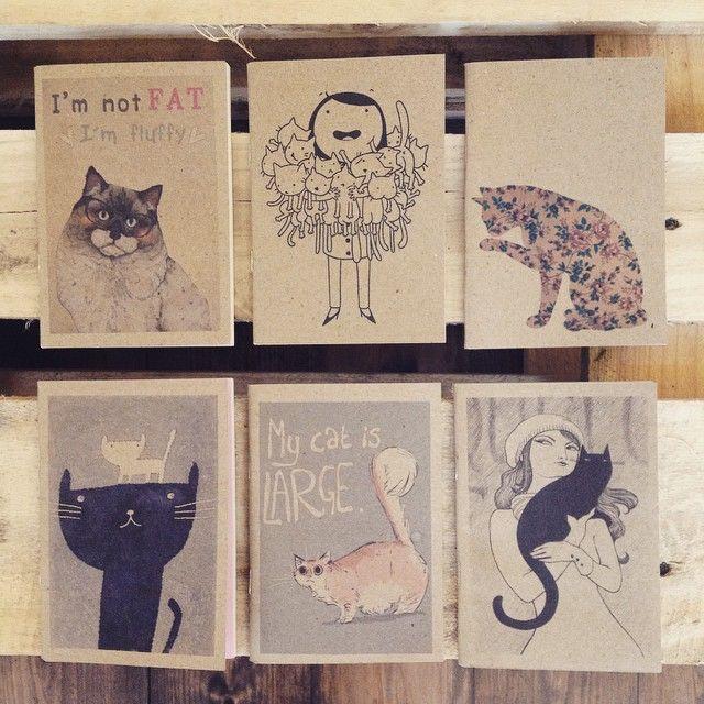 cute notebook collection for catlovers szputnyikshop szputnyik budapest cats kitty smallscalegraphics blackcat whitecat mycatislarge lovely fluffy purrrr