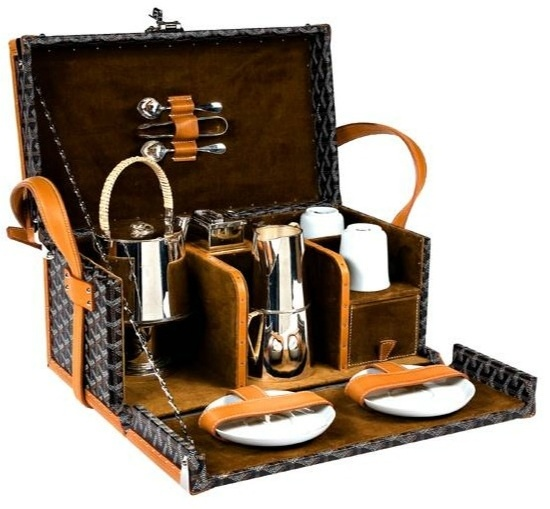 Goyard Luxury Picnic Trunk