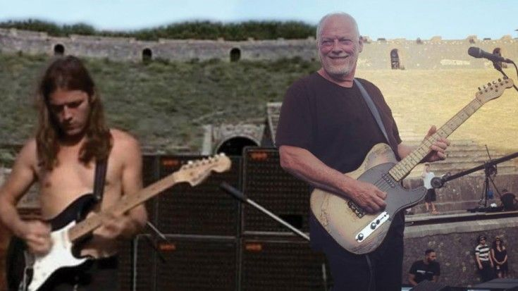 David Gilmour Returns To Pompeii After 45 Years- Plays Two RARE Pink Floyd Songs | Society Of Rock Videos