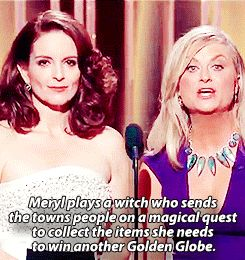 When Amy got real about Meryl Streep's winning record. | Tina Fey And Amy Poehler's 19 Best Jokes At The Golden Globes