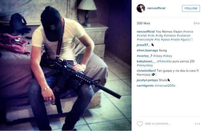 """An Instagram account gives a peek into what appear to be the opulent exploits of Mexican drug cartels — particularly the Sinaloa cartel, whose leader Joaquin """"El Chapo"""" Guzman escaped prison in July 2015. Photo: Screenshot Via Instagram"""