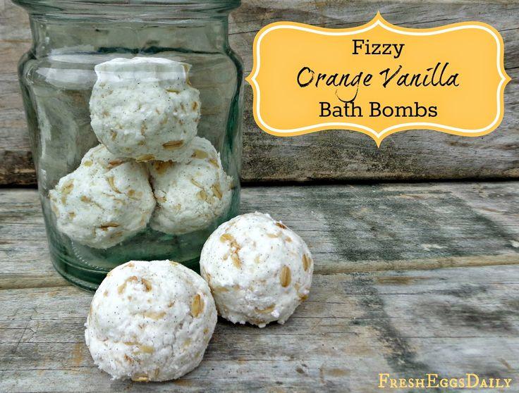 Fizzy Orange Vanilla Bath Bombs