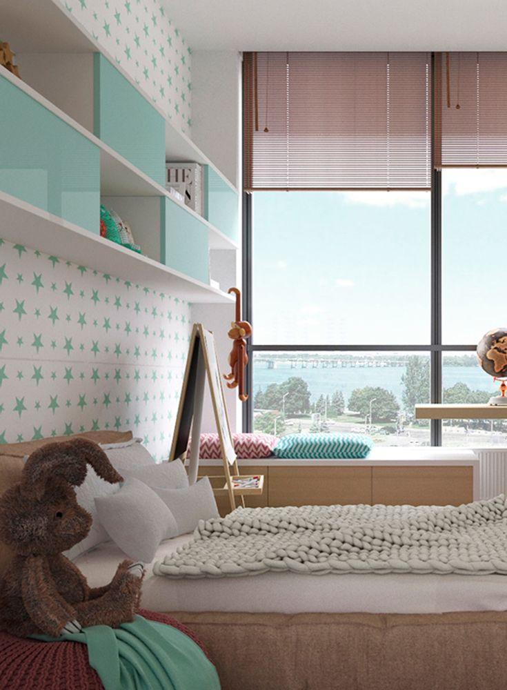 Ein Jugendzimmer Fur Madchen In Frischen Farben Gestaltet Jugendzimmer Jugendzimmer Madchen Zimmer Gestalten