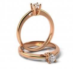 Inel de logodna cu diamant Abraham aur roz