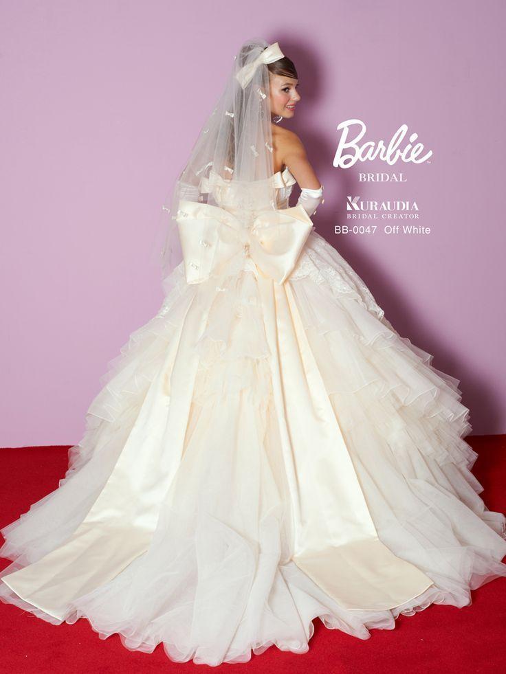 ふわふわシフォンがシルク素材の大きいリボンを強調してくれる♪ ♡ロマンチックな花嫁衣装ウェディングドレスまとめ参考一覧♡