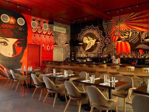 graffiti + restaurant