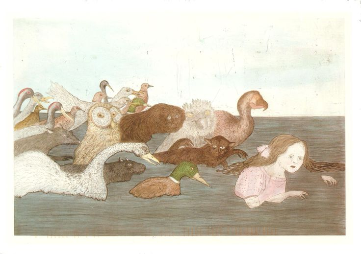 'Alice in pool of tears' by Kiki Smith from 'Alice's Adventures in Wonderland' (Lewis Carroll)