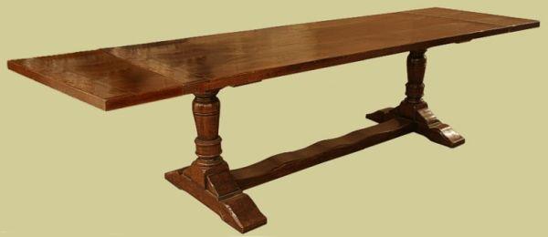 Extendable Oak Pedestal Table