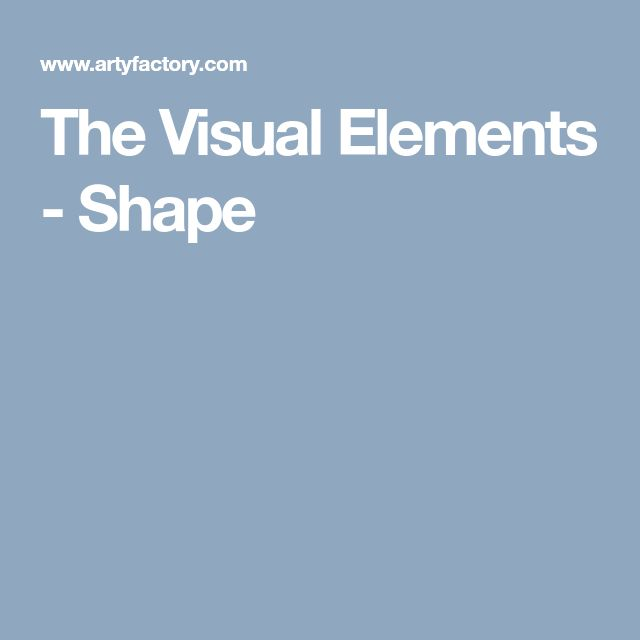 The Visual Elements - Shape