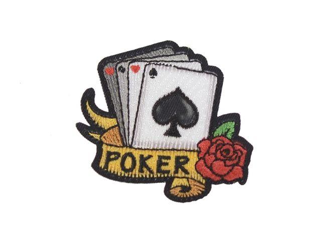 """Ecusson thermocollant tatouage - """"Poker"""""""