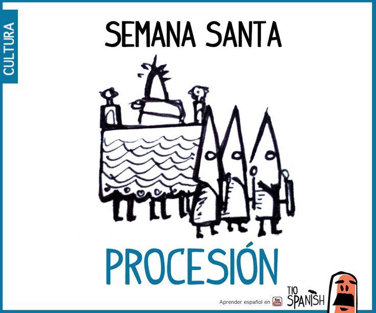 Procesión de semana Santa. Fiestas de España, tradición y cultura españolas