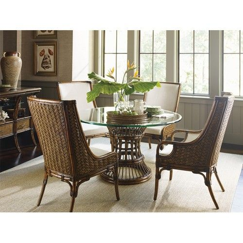 Shop For The Tommy Bahama Home Bali Hai Tropical 5 Piece Dining Room Set At Johnny Janosik