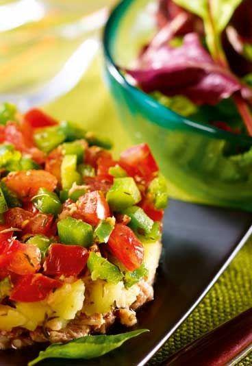Recette minceur Jenny Craig : Thon légumes à la provencale sur son nid de salade - Régime Jenny Craig : les recettes minceur du régime Jenny Craig