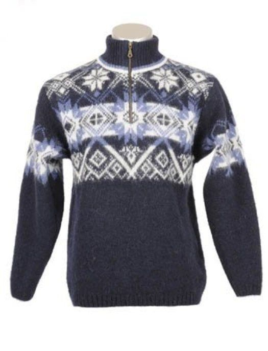 COMFORTABLE DURABLE ICELANDIC WOOL MEN'S ZIPPERED TURTLENECK PULLOVER #Unbranded #Pullover #EVERYDAY