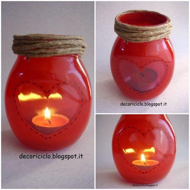 riciclo barattoli di vetro: lanterna porta-lumino