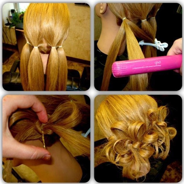 The 4 ponytail 8 bow tie updo