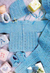 вязание для детей - шапочка пинетки и жакет