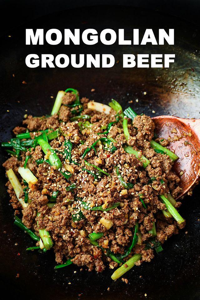 Mongolian Ground Beef Recipe Video Seonkyoung Longest Recipe Ground Beef Recipes Beef Recipes Mongolian Beef Recipes