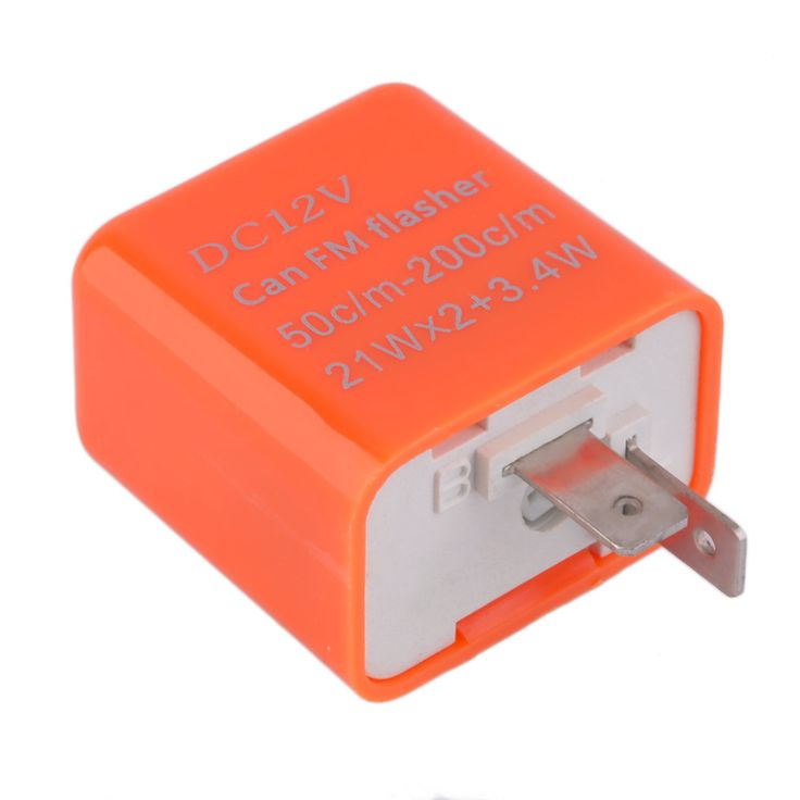 2 Pins 50C/m-200C/m Motor LED Flasher Relay Perbaiki 12 V Flash Kecepatan Adjustable Motor Putaran Cahaya Indikator sinyal Resistor