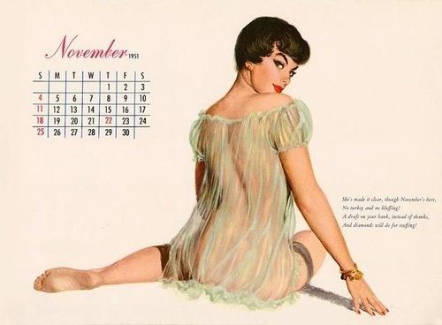 Pin Up Calendar Vintage : November calendar girl shoots i want to do